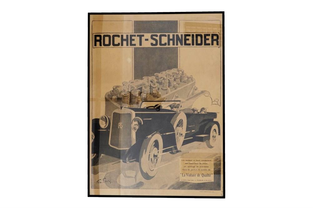 Lot 39 - A Reproduction Rochet Schneider Advertising Poster