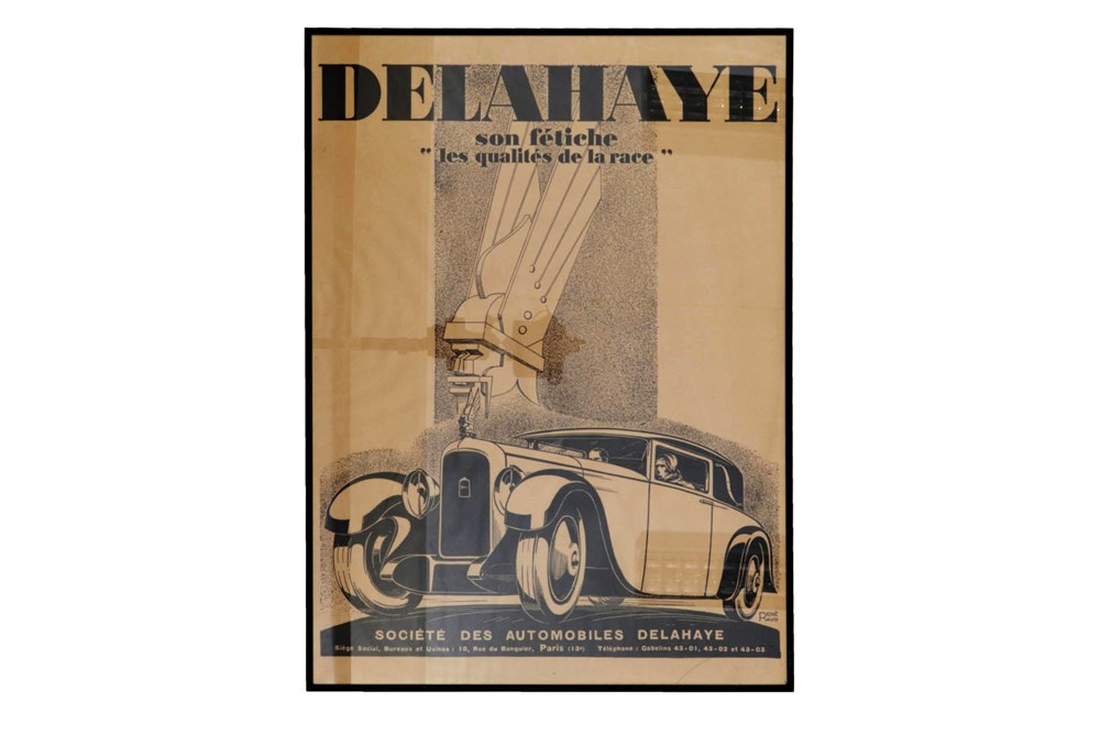 Lot 38-A Reproduction Delehaye Advertising Poster