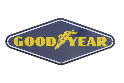 Lot 60-A Goodyear Enamel Sign