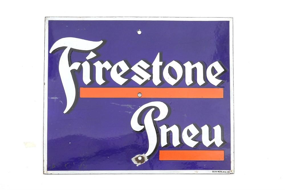 Lot 62-A Firestone Enamel Sign