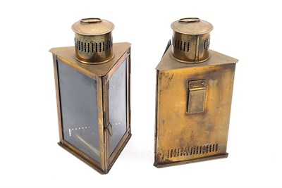 Lot 69 - Two Carbide-Powered Brass Lamps