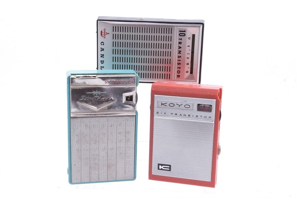 Lot 74-Three Vintage Transistor Radios