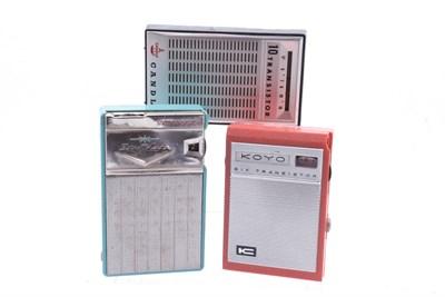 Lot 74 - Three Vintage Transistor Radios