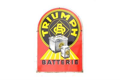 Lot 103-A 'Triumph Batterie' Enamel Sign