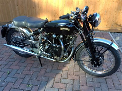 Lot 68 - 1950 Vincent Black Shadow Series C
