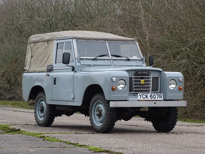 Lot 32-1977 Land Rover 88 Series III