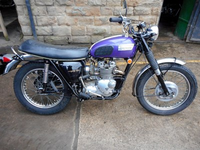 Lot 63-1970 Triumph T100C Trophy 500