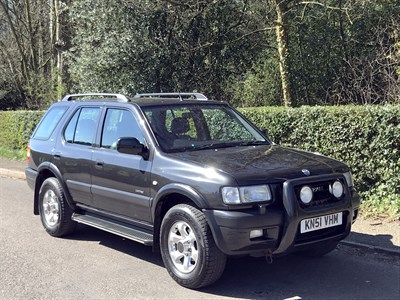 Lot 31-2001 Vauxhall Frontera Limited 3.2 V6