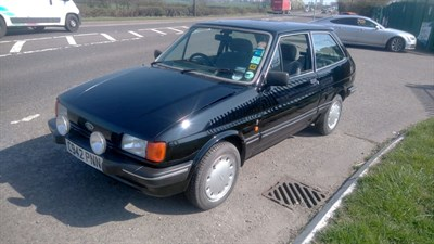 Lot 68-1986 Ford Fiesta Ghia