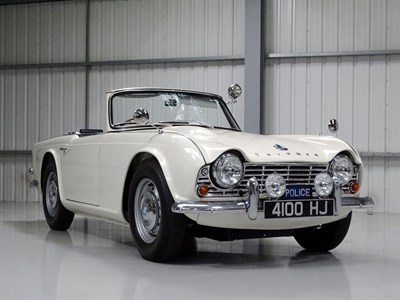 Lot 83 - 1962 Triumph TR4 Police Car