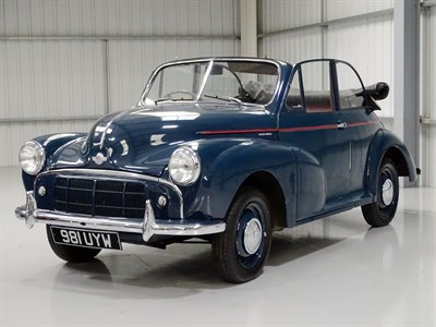 Lot 26 - 1953 Morris Minor SII 'Split Screen' Convertible Conversion