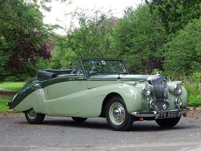 Lot 38-1952 Daimler DB18 Special Sports Drophead Coupe