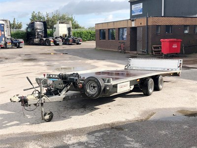 Lot 25-2008 Brian James TT Tilt-Bed Trailer
