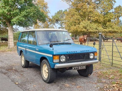 Lot 18-1972 Range Rover 'Two Door'