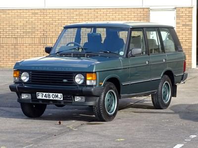 Lot 16 - 1989 Range Rover Vogue SE