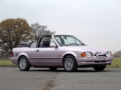 Lot 114-1989 Ford Escort XR3i Cabriolet