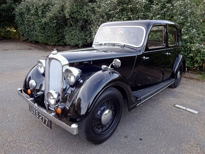 Lot 41-1937 Rover 12hp Saloon