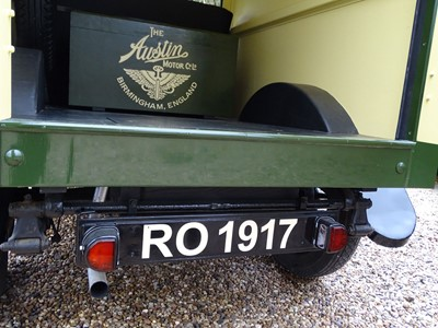 Lot 71-1925 Austin 12/4 Heavy Van