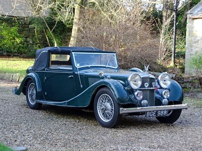 Lot 47-1938 Alvis Speed 25 SC Charlesworth Drophead Coupe