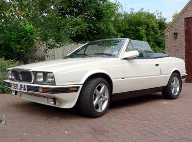 Lot 47-1989 Maserati Biturbo Spyder